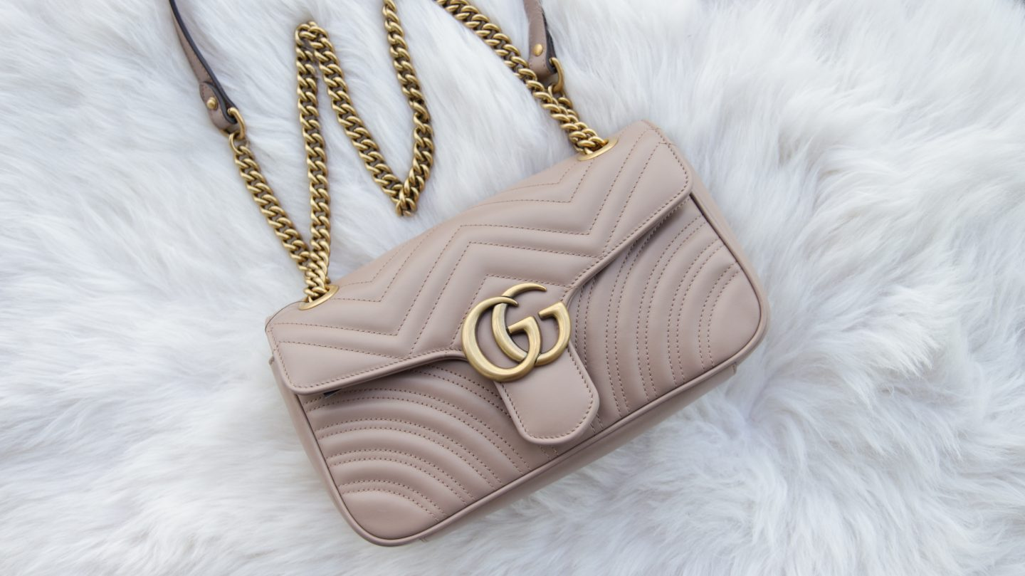 c70f542901853 Nude Gucci Marmont Small Flap Bag – UK