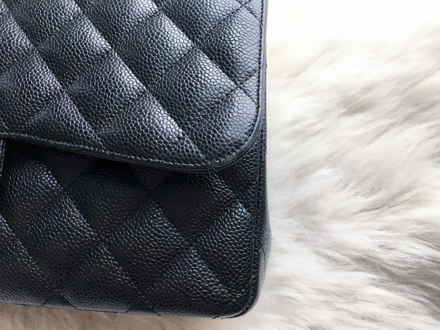0dc0bcd9c893 I have heard complaints about the dullness of leather in cases but this  will have to do with either the type of caviar leather (because Chanel  likes to keep ...