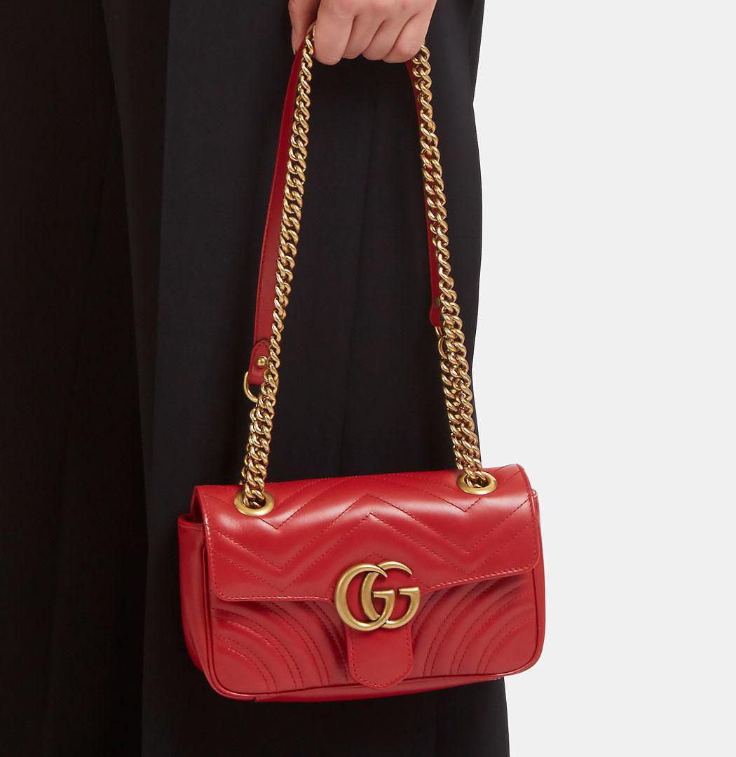 d58b5dd94819 Gucci Marmont Red Mini. Despite my better judgement