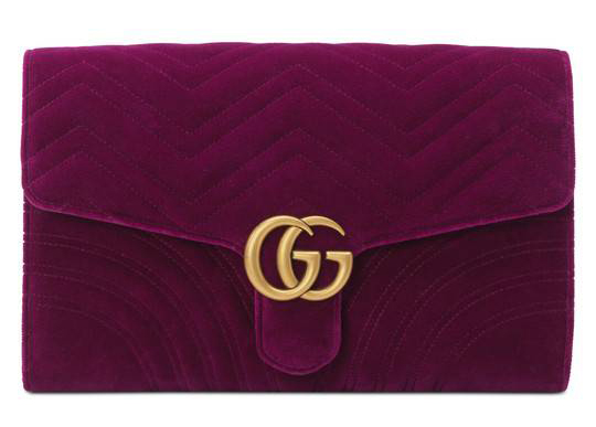 f96aa9283084 Perhaps the least practical on this list but I can't help but love this  Gucci Marmont Velvet Clutch. I saw this new release on the Gucci site about  a month ...